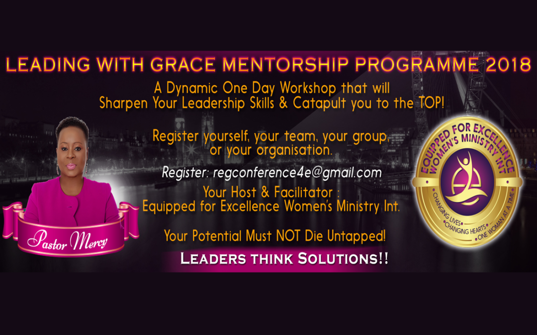 Leading with Grace Mentorship Programme 2018