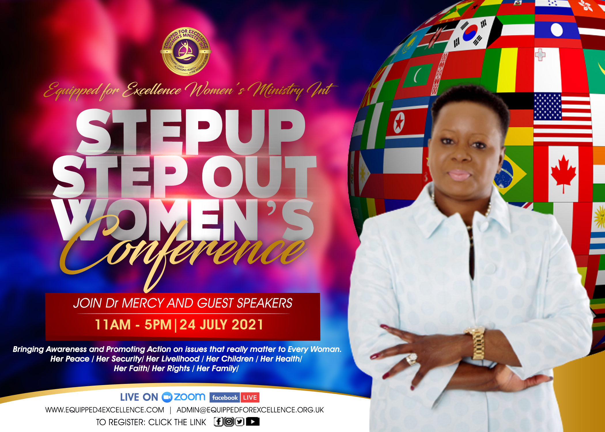 Dr Mercy Hosts: StepUp StepOut Women's Conference